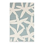 Harbor 8-Foot x 11-Foot Rug in Powder Blue with White