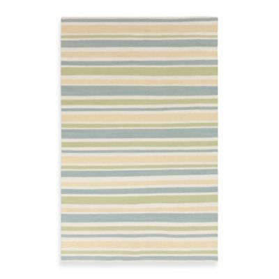 Somerset Bay Boardwalk Stripes Rug in Lettuce Leaf
