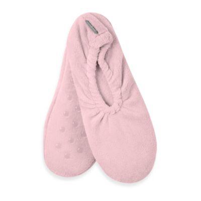 Microdry® Pure Performance Spa Memory Foam Footies in Pink