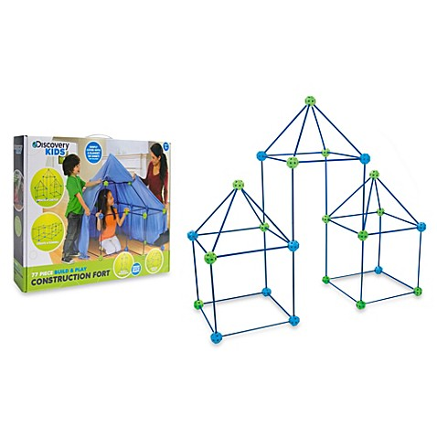 Discovery Kids 77 Piece Build And Play Construction Fort