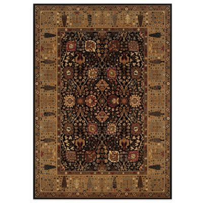 Couristan Cypress Garden 6-Foot 6-Inch x 6-Foot 6-Inch Rug in Black/Deep Maple