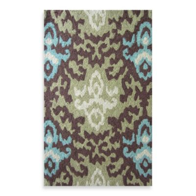 Loloi Rugs Super Luxe Brown/Green Ikat Rug