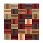Linon Home Trio Boxes Rug in Beige
