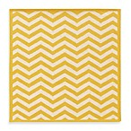 Linon Home Silhouette Chevron Rugs in Yellow/White