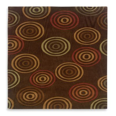 Linon Home Trio Concentric 5-Foot x 7-Foot Rug
