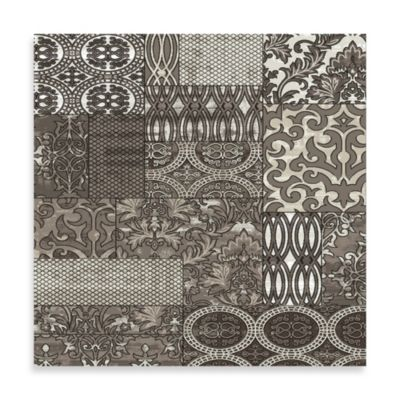 Linon Jewel Damask 5-Foot x 7-Foot 6-Inch Rug in Dark Beige