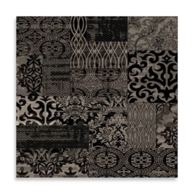 Linon Home Jewel Damask 5-Foot x 7-Foot 6-Inch Rug in Black