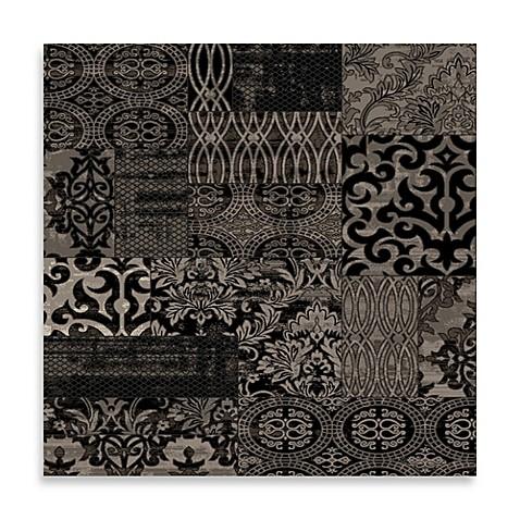 Linon Home Jewel Damask Rug In Black Bed Bath Beyond