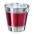 Red Hammered 48-Ounce Mini Ice Bucket