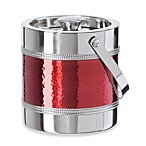 Red Hammered 3.2-Quart Ice Bucket