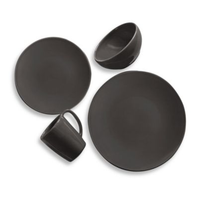 Kenneth Cole Reaction Solid Round 4-Piece Place Setting in Grey