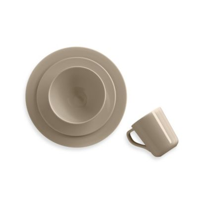 Real Simple® Round Dinnerware in Taupe  sc 1 st  Bed Bath u0026 Beyond TV : real simple dinnerware - pezcame.com
