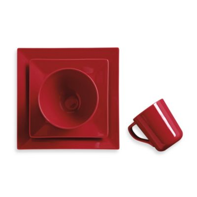 Real Simple® Square 4-Piece Place Setting in Red