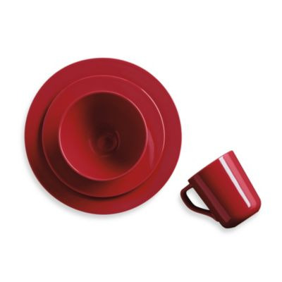 Real Simple® Round 4-Piece Place Setting in Red