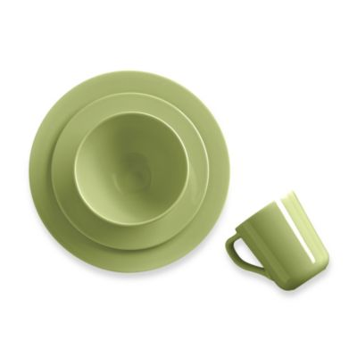 Real Simple® Round 4-Piece Place Setting in Moss
