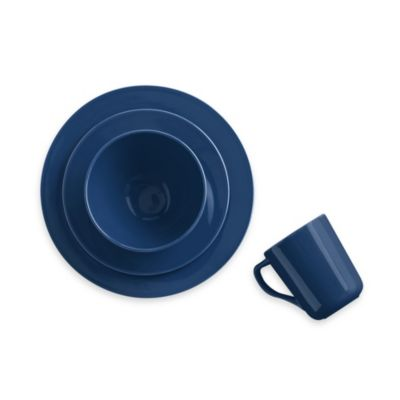 Real Simple® Round 4-Piece Place Setting in Marine Blue