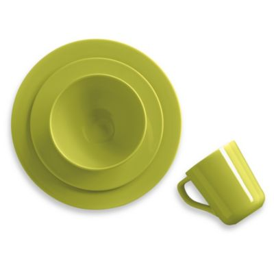 Real Simple® Round 4-Piece Place Setting in Lemon Grass