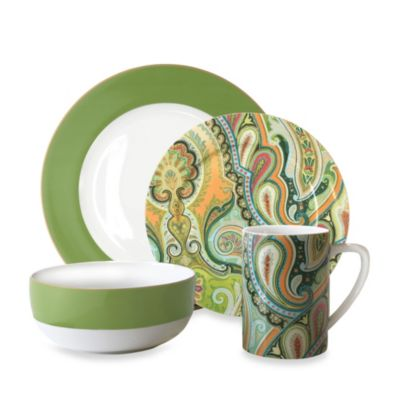 Taj 4-Piece Porcelain Dinnerware Set