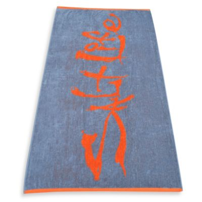 Salt Life® Signature Beach Towel in Orange/Grey