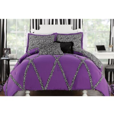 Wild Cheetah Comforter and Sham Set