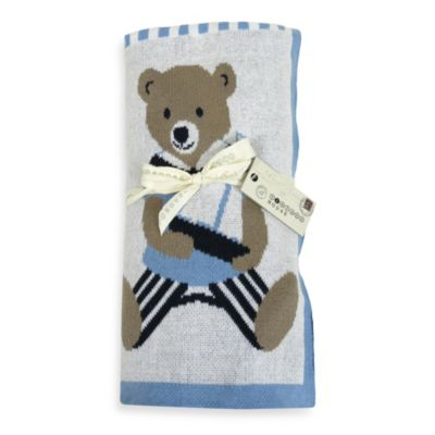 Park B. Smith Vintage House Teddy At The Beach Throw