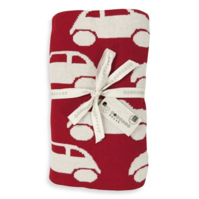 Park B. Smith Vintage House Cars Throw in Red/Cream