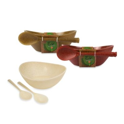 Architec® EcoSmart Poly-Paper and Poly-Flax™ Serving Bowl and Spoon Set in White