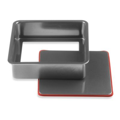 "Kuhn Rikon 9-Inch Square PushPan ""No Spring"" 2-Piece Springform Pan"