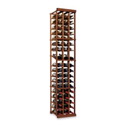 N FINITY 3-Column Wine Rack Display in Dark Walnut