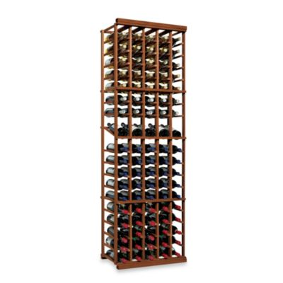 N'FINITY 5-Column Wine Rack Kit in Dark Walnut