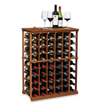N'FINITY Wine 6-Column Wine Rack Kit in Dark Walnut