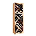 Wine Enthusiast N'FINITY Diamond Cube Wine Rack Kit in Natural