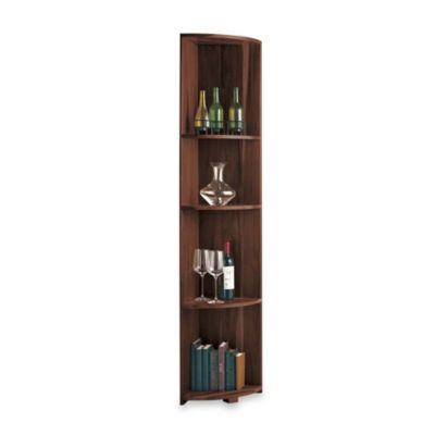 Wine Enthusiast N'FINITY Quarter Round Shelf Wine Rack Kit in Dark Walnut