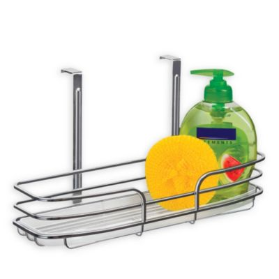 Over Cabinet Door Organizer Single Shelf with Molded Tray