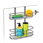 Over Cabinet Door Organizer Double Shelf with Molded Tray