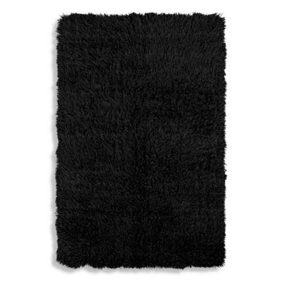 Linon Home Flokati 3-Foot x 6-Inch 5-Foot 6-Inch Rug in Black