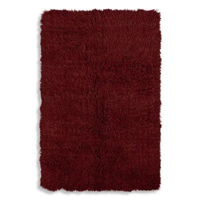 Red Flokati Rug