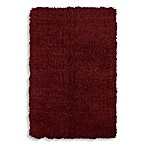 Linon Home Flokati Rug in Burgundy