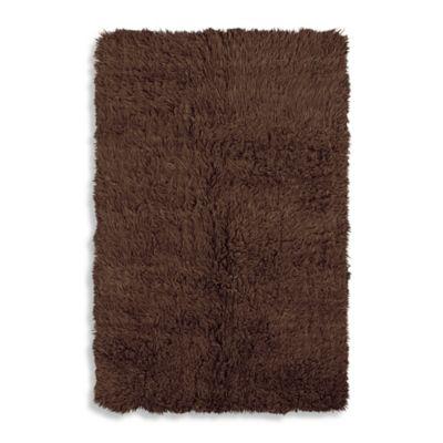Linon Home Flokati 3-Foot 6-Inch x 5-Foot 6-Inch Area Rug in Cocoa