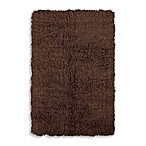 Linon Home Flokati Area Rug in Cocoa