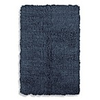 Linon Home Flokati Rug in Denim Blue