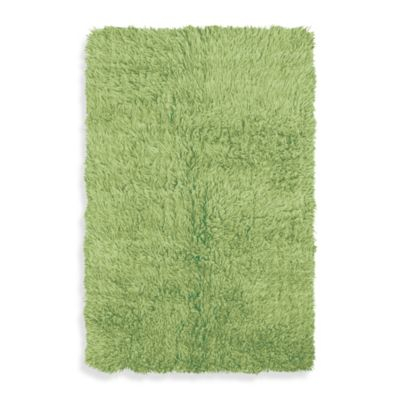 Linon Home Flokati 5-Foot x 8-Foot Rug in Lime
