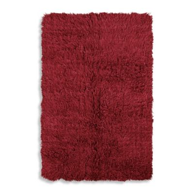 Linon Home Flokati 3-Foot 6-Inch x 5-Foot 6-Inch Area Rug in Red