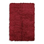 Linon Home Flokati Area Rug in Red