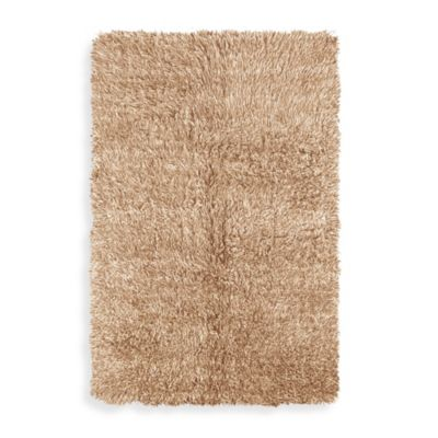 Linon Home Flokati Area Rug in Tan