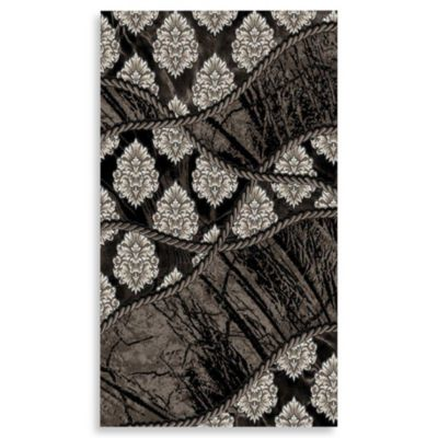 Linon Home Forest 2-Foot x 3-Foot Rug in Black