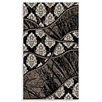 Linon Forest Rug in Black