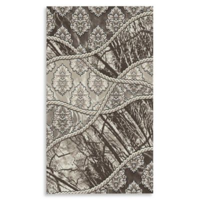 Linon Home Forest 2-Foot x 3-Foot Rug in Brown