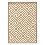 Linon Greek Key Rug in Beige/White