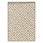 Linon Greek Key Rug in Grey/White